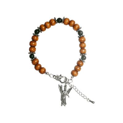 Engelen armband aartsengel Raphaël - Groene Aventurijn.