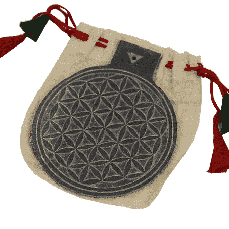 Leisteen Reliëf Flower of Life (10 cm)
