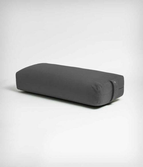 Manduka Yoga Bolster Grijs Rechthoekig Katoen - Effen - 64 x 33 x 14 cm