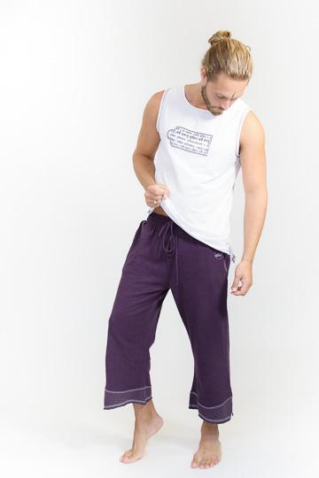 Yogabroek Biologisch Katoen & Hennep Man Paars (Maat M-L)