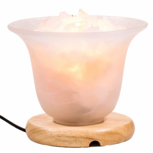 Bergkristal + Himalaya Zoutkristal Lamp