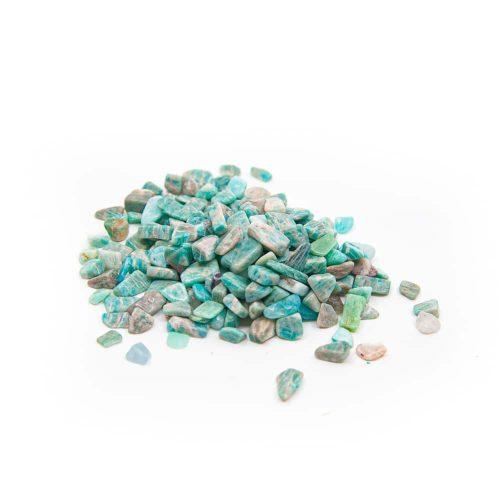 Trommelstenen Aquamarijn (5 to 10 mm) - 100 gram