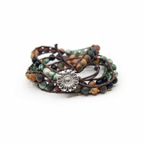 Edelsteen Armband Agaat Wikkel Armband Bohemian
