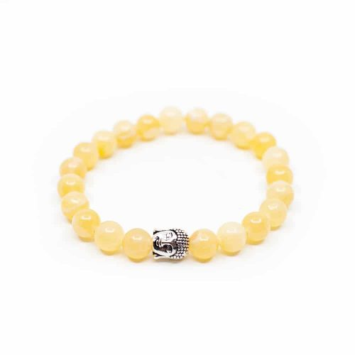 Edelstenen Armband Calciet met Boeddha