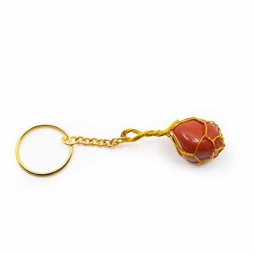 Edelsteen Sleutelhanger Rode Jaspis