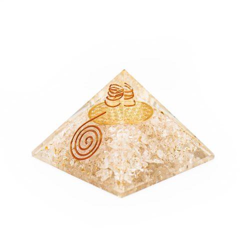 Orgonite Piramide Bergkristal - Flower of Life - (70 mm)