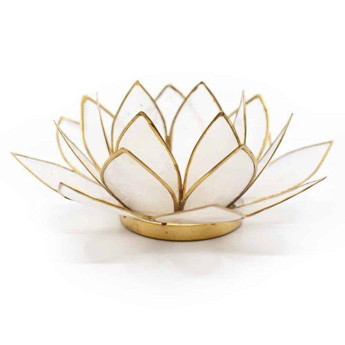 Lotus Sfeerlicht Naturel Goudrand