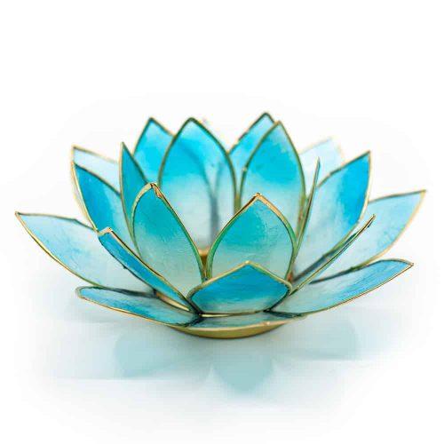 Lotus Sfeerlicht 2-Kleurig Licht Blauw / Blauw Goudrand