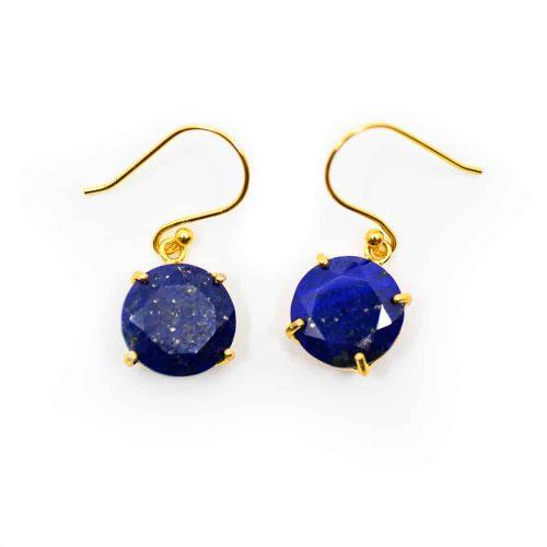 Edelsteen Oorhangers Lapis Lazuli - 925 Zilver & Verguld