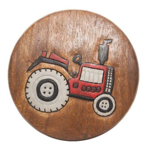Kinderkrukje met Tractor (Acaciahout)