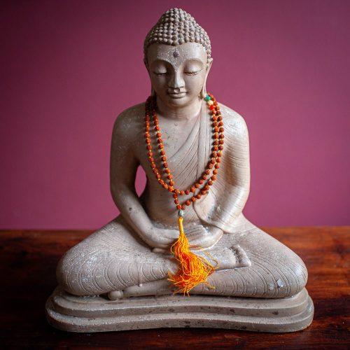 Rudraksha Chakra Edelstenen Buddha Mala - 108 kralen
