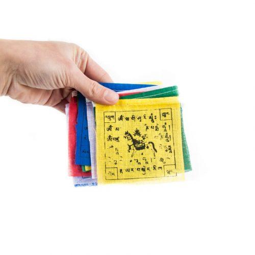 Gebedsvlaggen koord Tibetaans met 10 Vlaggen - 130 cm lang