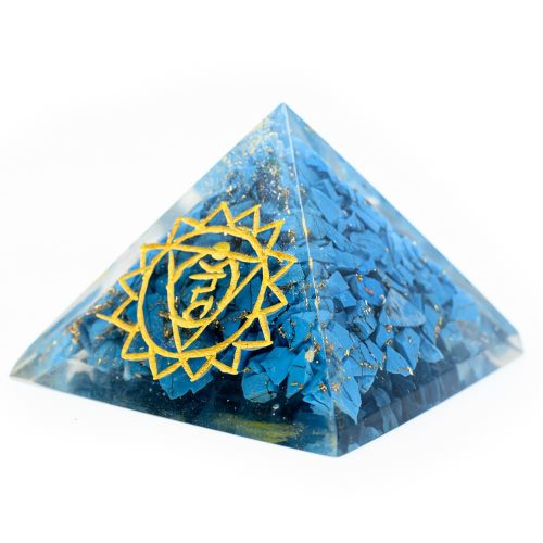 Orgonite Piramide Turkoois - Keelchakra - (40 mm)