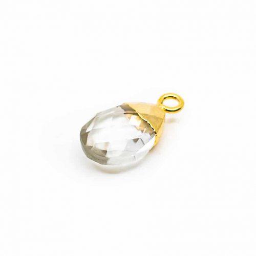 Edelsteenhanger Bergkristal Peertje (10 mm)