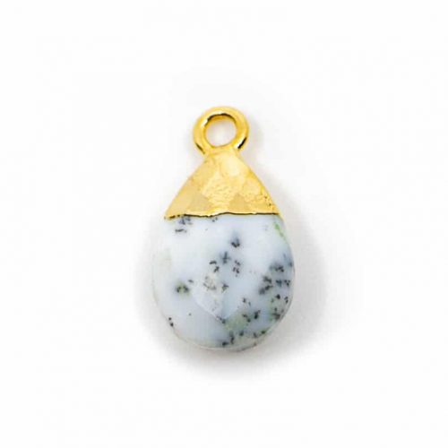 Edelsteenhanger Dendriet Opaal Peertje (10 mm)