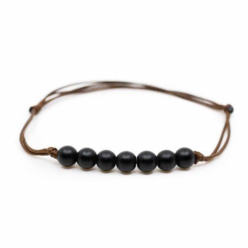Verstelbare Armband met Zwarte Toermalijn