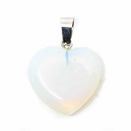 Hartvormige Edelstenen Hanger Opaliet (20 mm)