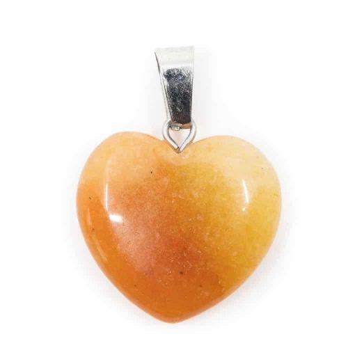 Hartvormige Edelstenen Hanger Honing Jade (20 mm)