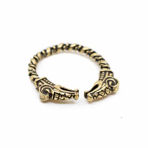 Verstelbare Viking Ring Goudkleurige Draak