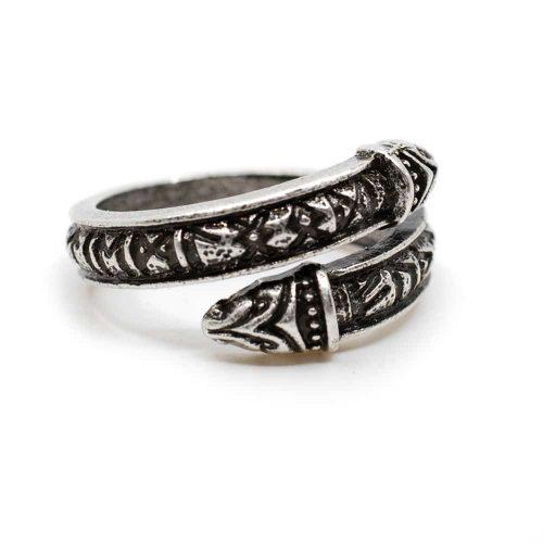 Verstelbare Viking Ring Runen Zilverkleurig