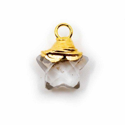 Geboortesteen Hanger Ster April Bergkristal 925 Zilver (10 mm)