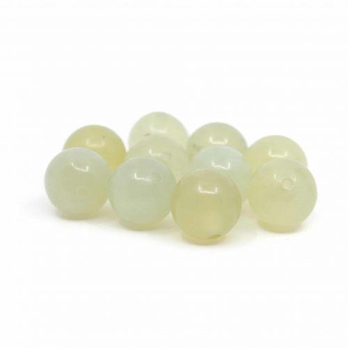 Edelsteen Losse Kralen Groene Jade - 10 stuks (10 mm)