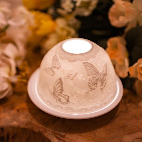 Sfeerlicht Porselein Vlinders