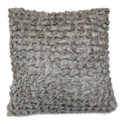 Fluwelen Kussen Smock Beige (45 x 45 cm)
