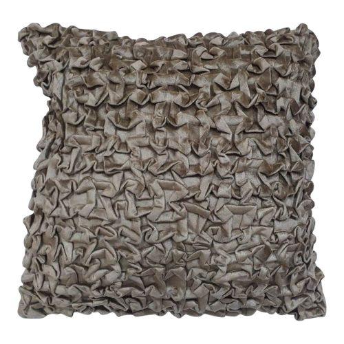 Fluwelen Kussen Smock Goudkleurig (45 x 45 cm)