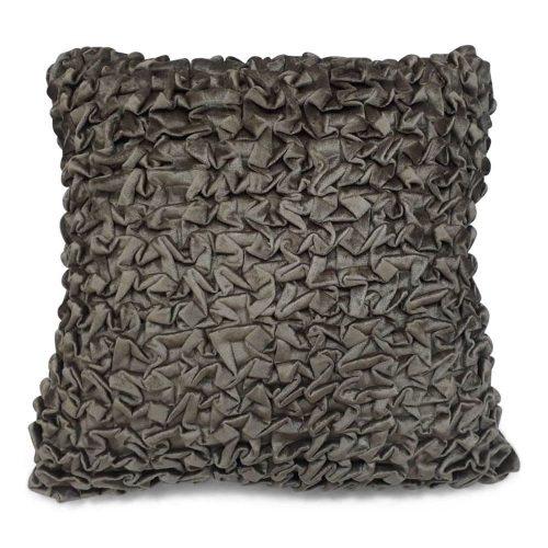 Fluwelen Kussen Smock Taupe (45 x 45 cm)