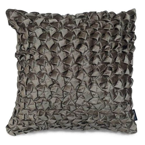 Fluwelen Kussen Smock Taupe (50 x 50 cm)