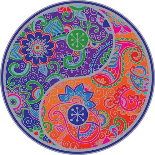 Raamsticker Yin Yang Mandala