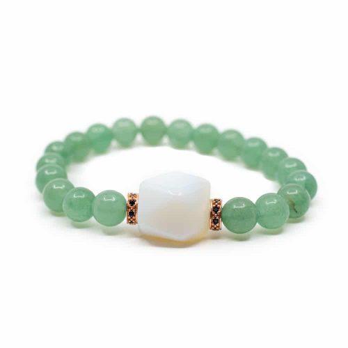 Edelsteen Armband Groene Aventurijn met Opaliet