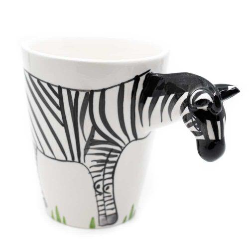 Beker Handgeschilderd Zebra