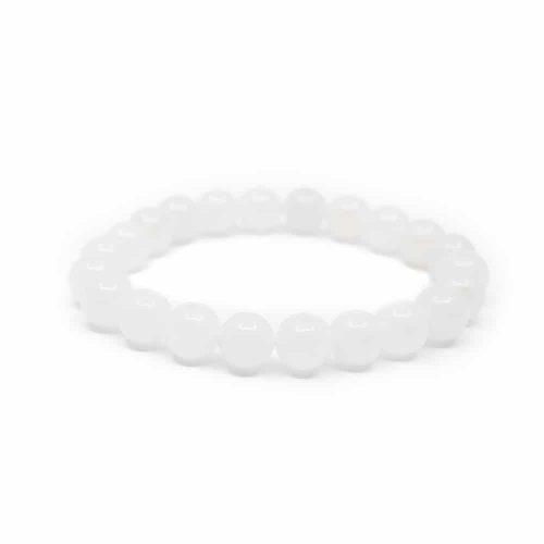 Edelsteen Armband Witte Jade