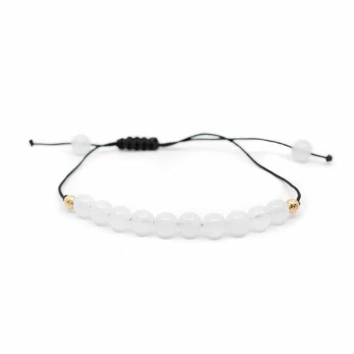 Edelsteen Armband Witte Jade Verstelbaar