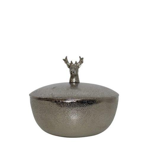 Aluminium Bakje met Deksel Hert (15 cm)