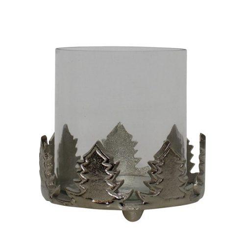 Aluminium Waxinelichthouder Dennenboom