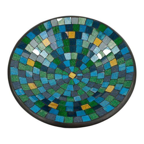 Kom Mozaïek Blauw-Groen-Goudkleurig (38 cm)