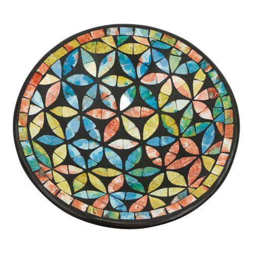 Ronde Sierschaal Mozaïek Bloemen Multicolor (24 x 6  cm)