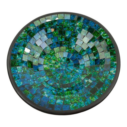 Kom Mozaïek Groen-Blauw (28 cm)