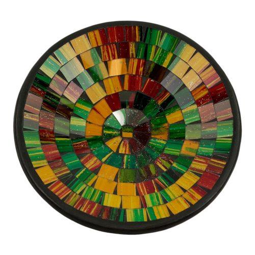 Kom Mozaïek Regenboogkleuren-Geel (21 cm)