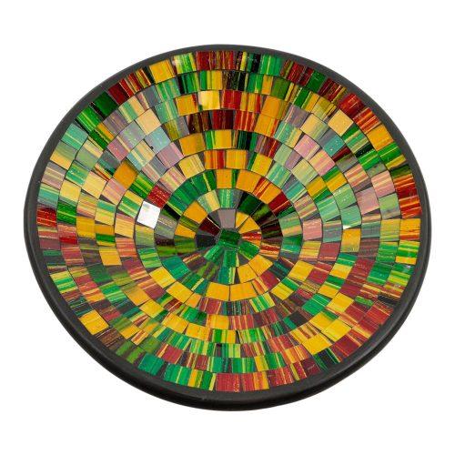 Kom Mozaïek Regenboogkleuren-Geel (28 cm)