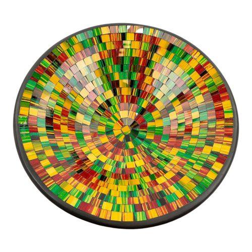 Kom Mozaïek Regenboogkleuren-Geel (37 cm)