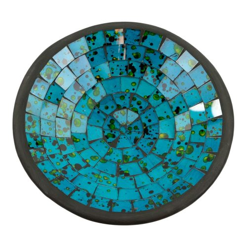 Kom Mozaïek Zeeblauw-Groen (21 cm)