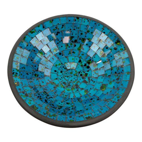 Kom Mozaïek Zeeblauw-Groen (28 cm)