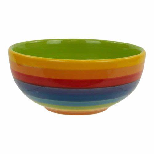 Regenboogkleurige Kom Keramiek (13 cm)