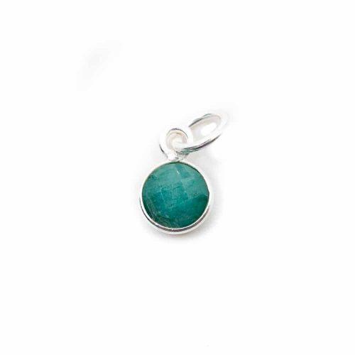 Geboortesteen Hanger Mei Smaragd 925 Zilver (6 mm)