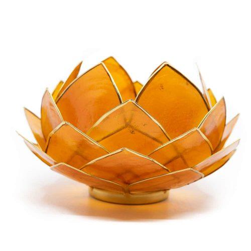 Lotus Sfeerlicht Oranje Goudrand Groot