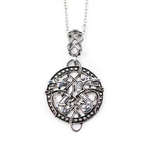 Amulet Viking Keltische Knoop met Draken
